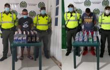 Los dos capturados con licor adulterado.