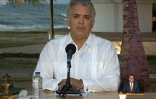 El presidente Iván Duque y el ministro de Salud, Fernando Ruiz, hicieron el anuncio ayer desde Sucre.
