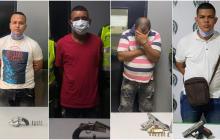 Policía captura cuatro personas por porte ilegal de armas de fuego