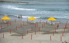 Cartagena habilita tramos de playas bioseguras en El Cabrero y Marbella