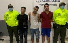 Los capturados cuando eran presentados ante las autoridades.
