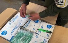 Policía incauta cargamento de 86.400 jeringas de contrabando en Barranquilla