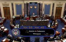 Senado de Estados Unidos reversa decisión de citar testigos en juicio a Trump