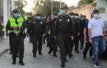 Autoridades en los recorridos por Barranquilla.