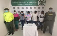 A la cárcel integrantes de 'La Familia' por tráfico de drogas en Barranquilla