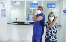 """""""La vacuna es una luz al final del sendero"""": primer vacunado en Soledad"""