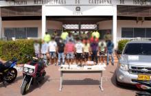 Capturan a 18 presuntos miembros del Clan del Golfo en Cartagena