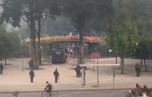 Enfrentamientos entre estudiantes y el Esmad en Bogotá