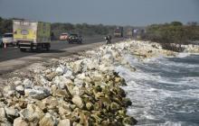 Así luce el kilómetro 19 en la vía que comunica a Barranquilla con Ciénaga.