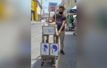 El 'Museo ambulante' que se pasea por el Centro de Barranquilla