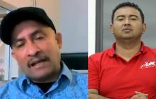 Jairo Antonio Castillo Peralta, alías Pitirri (izquierda) y el denunciante Jorge Luis Alfonso López.