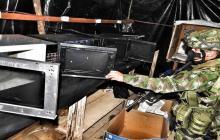Ejército desmantela un laboratorio para el procesamiento de pasta base coca en Santander.