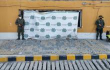 Vista de los 501 kilogramos de cocaína que fueron incautados el pasado 30 de enero en el Puerto de Barranquilla.