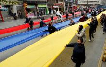 Comerciantes protestan en Bogotá contra medidas que los llevan a la quiebra