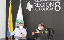 Policía y Gobernación definen estrategia para frenar delitos