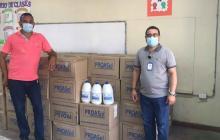 Entregan elementos de bioseguridad en colegios oficiales de Montería