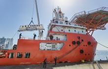 Zarpa buque con 124 toneladas de ayuda humanitaria para San Andrés