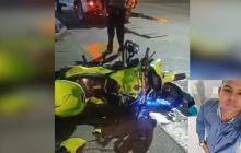Un policía muerto y otro herido deja accidente de tránsito
