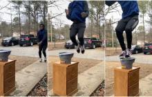 El salto que desafía las leyes de la física y es viral en TikTok