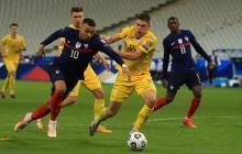 Francia se estrella ante la sólida defensa de Ucrania