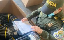 Aprehenden partes para instalaciones eléctricas de contrabando