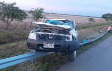 Vehículo chocó con una vaca en la vía Bosconia - Fundación