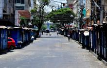 Calles de Barranquilla desiertas un Viernes Santo por medidas