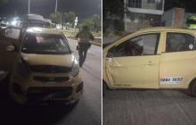 Tras persecución y tiroteo, policías recuperan un taxi robado