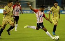 Junior 0, Águilas 0: la derrota pegó en el palo