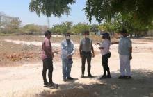 Inspeccionan terrenos para construcción de centros de salud en Galapa