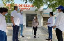 Avanzan obras de centros de salud en dos municipios