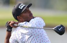 Sebastián Muñoz en el primer día del Masters de Augusta 2021