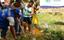 Continúan labores de limpieza en cauces de arroyos