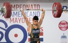 El pesista colombiano Miguel Suárez logra récord panamericano