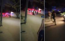 Enfrentamientos en Sabanagrande por 'covid-fiesta'