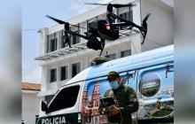 Drónica de la Policía: con los 'ojos' sobre criminales e indisciplinados