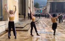 Artistas que bailaron en Transmilenio lo volvieron a hacer en el paro nacional