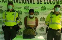 Mujer es capturada portando más de seis kilos de marihuana
