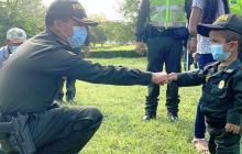 'Nico', el niño que cumplió su sueño de ser Policía