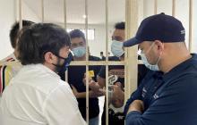 Pumarejo visitó a estudiantes que fueron conducidos a la UCJ tras la marcha