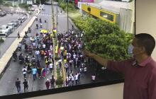 Autoridades coordinan tráfico por marchas en Montería