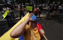 Colombianos en México protestan contra la represión