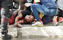 Joven resultó herido durante protestas en Barranquilla