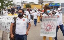 Siguen las manifestaciones en Sucre