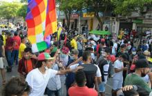 Comunidad Cannabica inicia plantón en la carrera 8 con Murillo