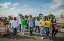 Alcalde Dau reitera fue a las marchas solo para garantizar el orden público