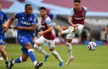Con Yerry Mina, Everton derrotó a West Ham