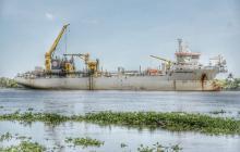 Llega la draga Bartolomeu Dias para trabajos en el canal de acceso