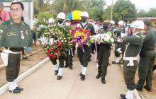 Despiden con honores a patrullero asesinado en Sucre