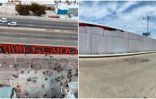 En Barranquilla: borran mural de la carrera 38 con Circunvalar pintado por manifestantes